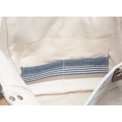 poche tissu d'éditeur bayadère bleu
