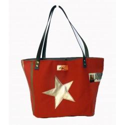 cabas rouge - dos avec étoile