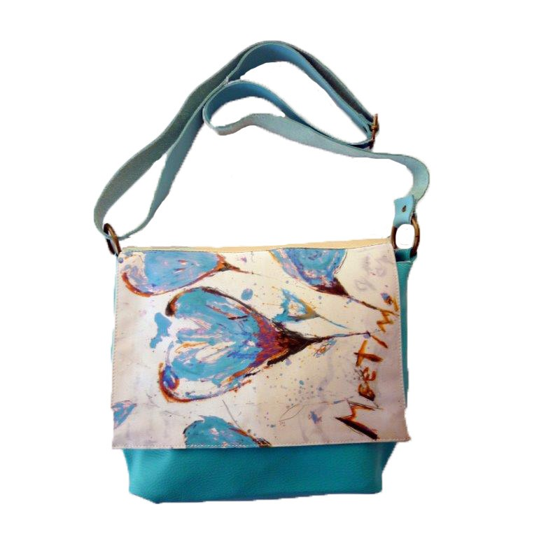 sac besace turquoise