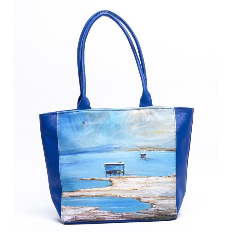 sac cabas bleu
