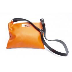 pochette orange à bandoulière