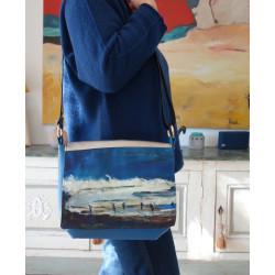 sac besace bandoulière bleu
