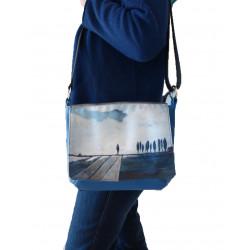 sac besace bleu