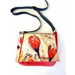 sac besace rouge à bandoulière