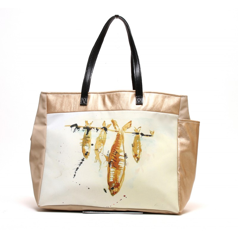 """sac de plage sable """"les sardines"""""""