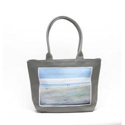 sac cabas gris moyen